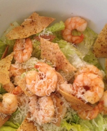 Martha Stewart Caesar Salad with Spicy Shrimp