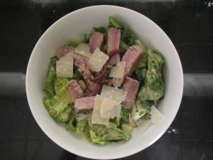 Caesar Salad with Seared Tuna and Fresh Anchovies