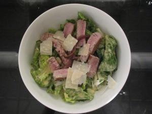Caesar Salad with Seared Tuna and Fresh Anchovies