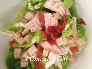 Low-fat Chicken Caesar Salad
