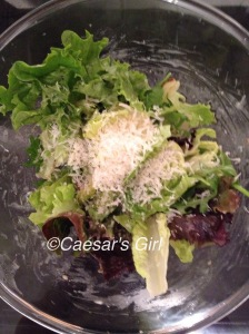 Mixed Salad Leaves with Parmesan Cheese