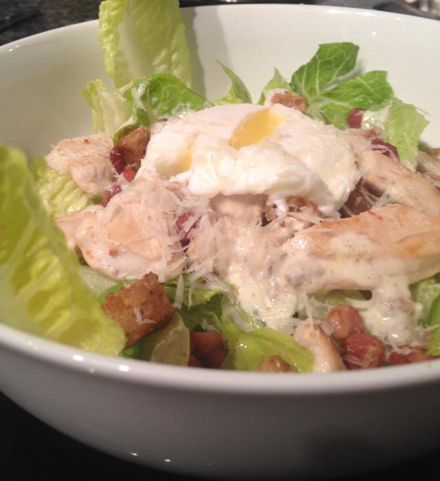 Healthy Chicken Caesar Salad