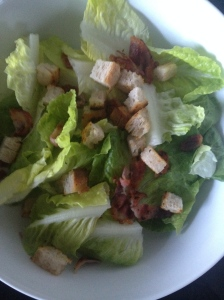 Lettuce, Bacon and Croutons