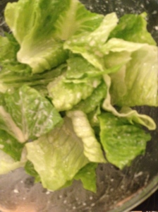 Romaine Lettuce and Caesar Dressing