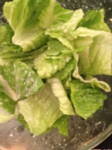 Romaine Lettuce and Caesar Dressing