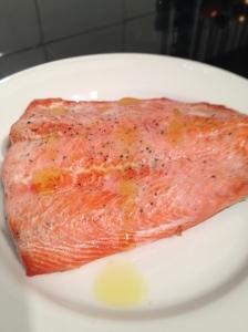 Cooked wild salmon