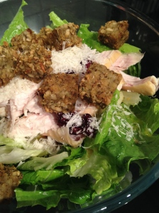 Lettuce, Turkey, Croutons, Cranberries