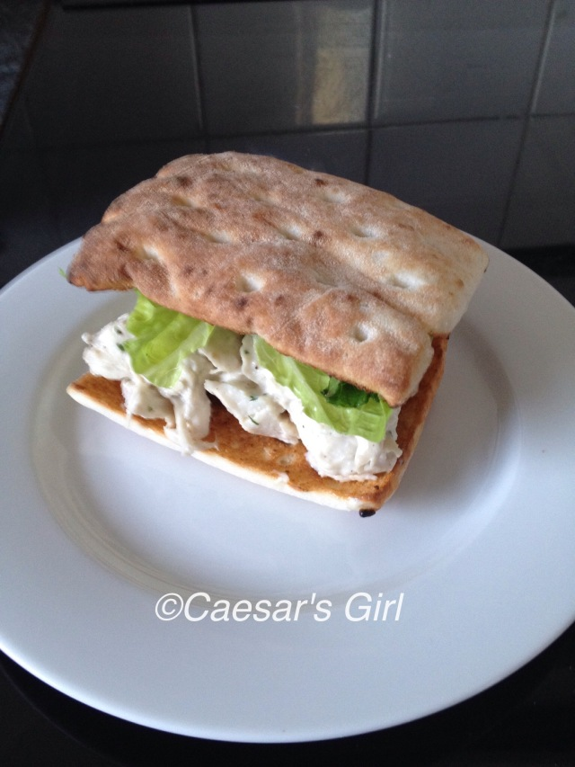 Pulled Chicken Caesar Sandwich
