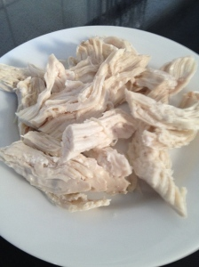 Shredded Poached Chicken
